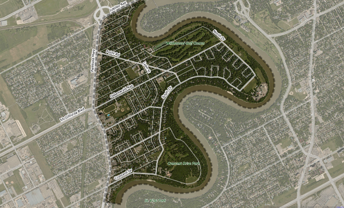 Map of East Fort Garry